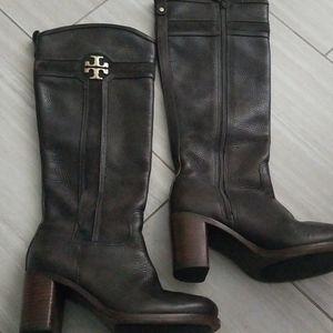 Tory burch boots sz 7.5 brown